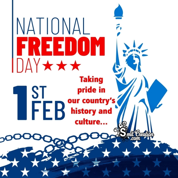 National Freedom Day 1st Feb