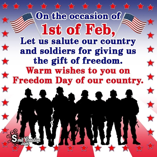 1st of Feb Thank You To Soldiers