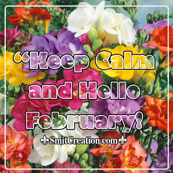 Keep Calm And Hello February!