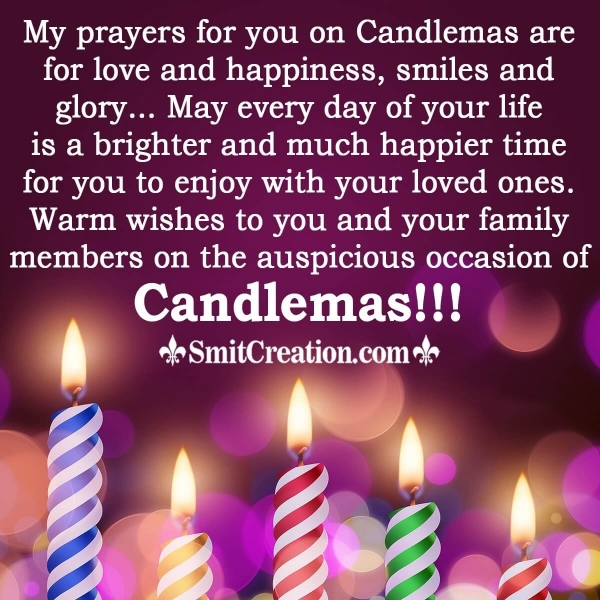 My prayers For You On Candlemas