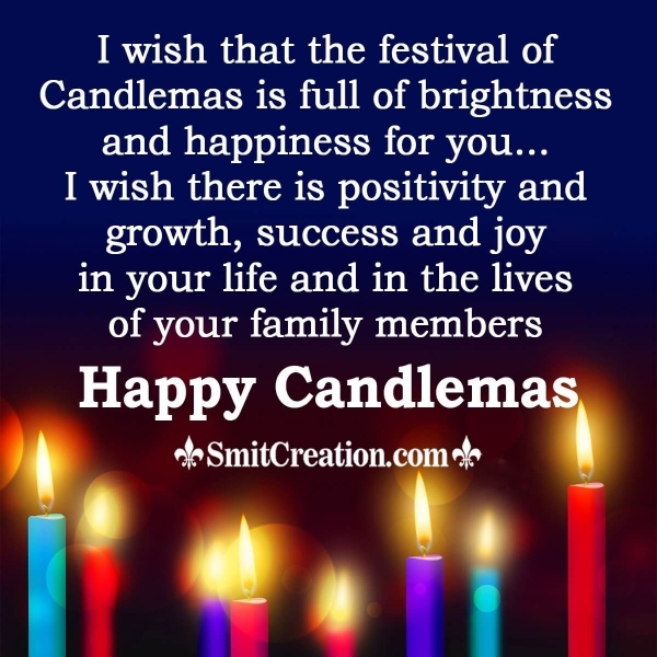 Sending Lots Of wishes On Candlemas