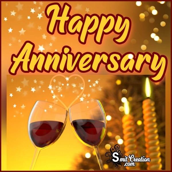 Happy Anniversary Wine Glasses Image