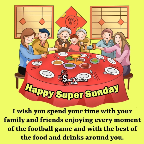 Happy Super Sunday Wishes Image
