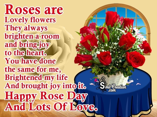 Happy Rose Day And Lots Of Love