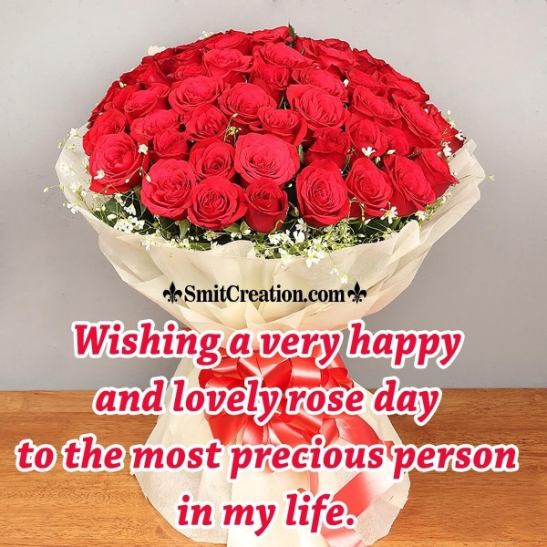 Wishing A Very Happy And Lovely Rose Day