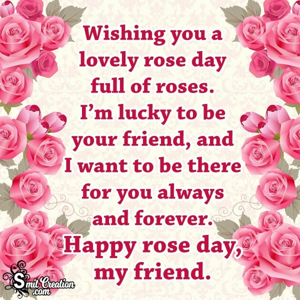 Happy Rose Day Wishes For Friends