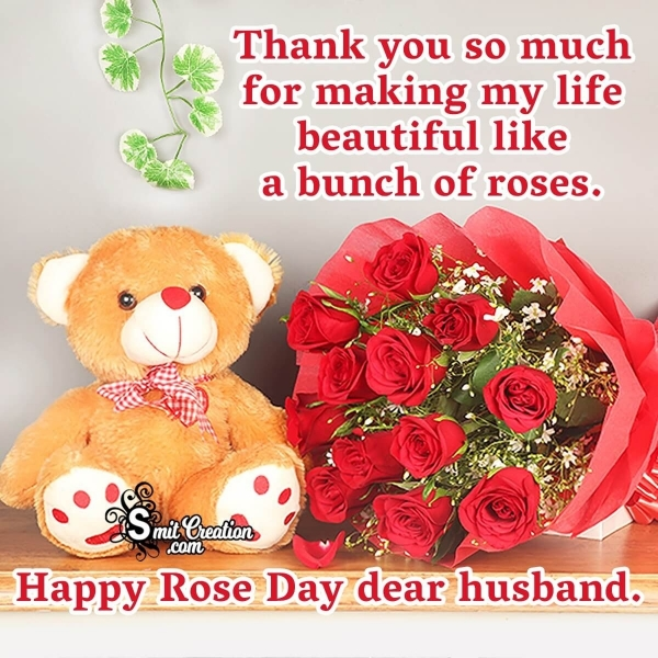 Happy Rose Day Messages for Husband