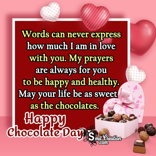 Happy Chocolate Day Lovely Message