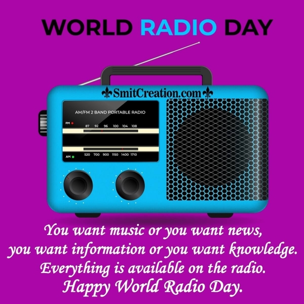 Happy World Radio Day Quote Image