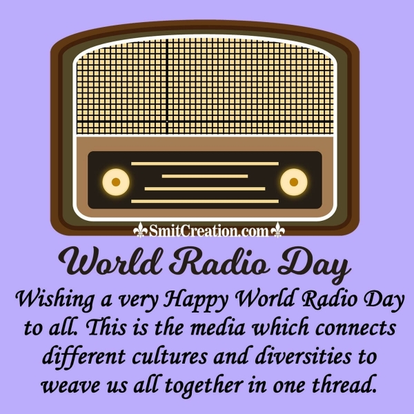 Wishing A Very Happy World Radio Day