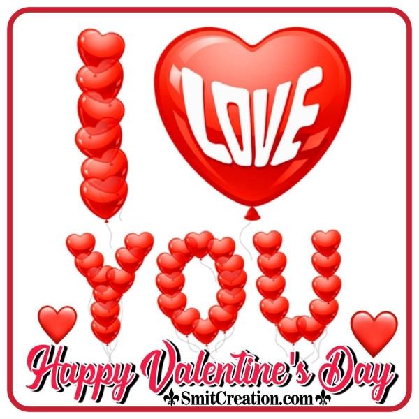Happy Valentine's Day Balloons Pic