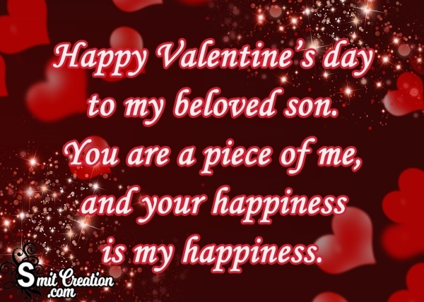 Happy Valentine's day To My Beloved Son