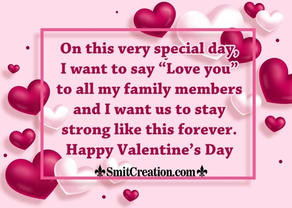 Happy Valentine Day Messages for Family