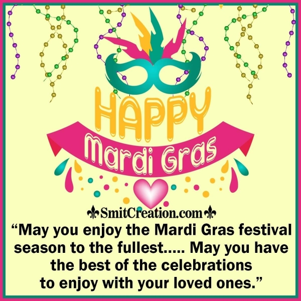 Happy Mardi Gras Best Wishes