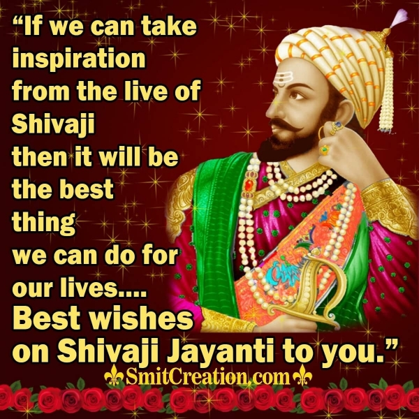 Best wishes on Shivaji Jayanti