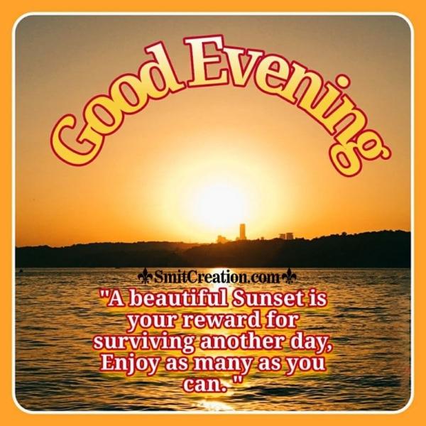 Good Evening Message Photo