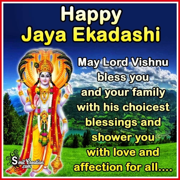 Happy Jaya Ekadashi Blessings