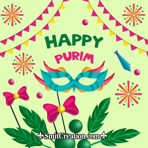 Happy Purim Greetings Card