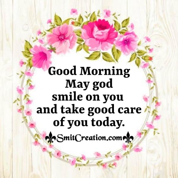 Good Morning May God Smile