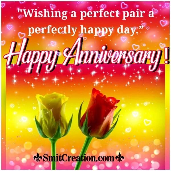 Happy Anniversary Wish Roses Pic