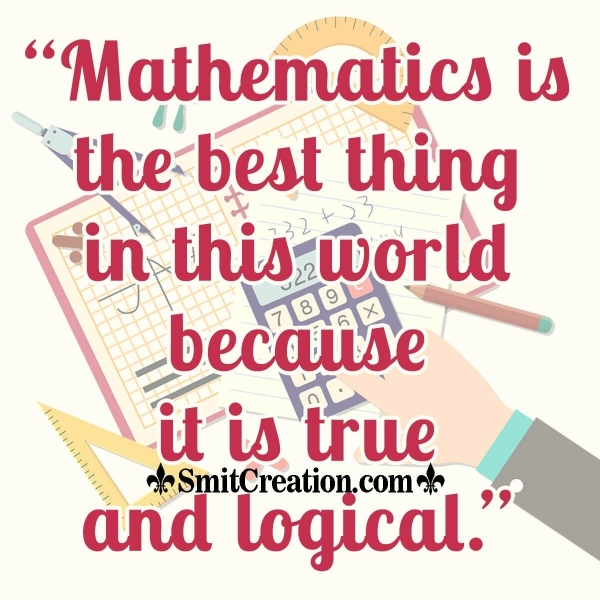 Mathematics Day Quotes