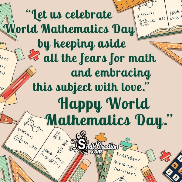 Happy World Mathematics Day Message