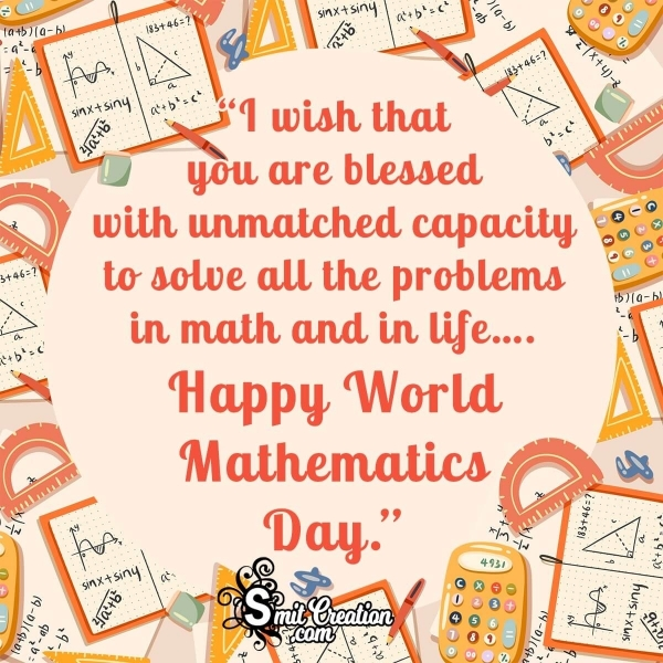 Happy World Mathematics Day Blessings