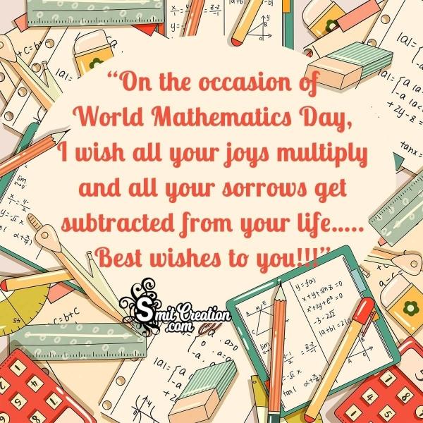 Happy World Mathematics Day Wishes