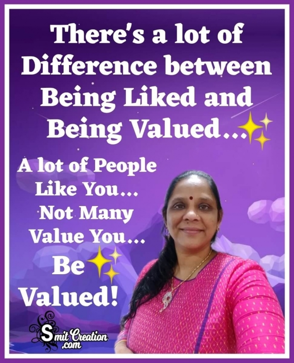 Being Liked And Being Valued
