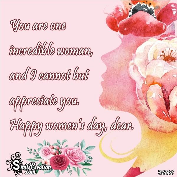 Happy Women's Day Dear