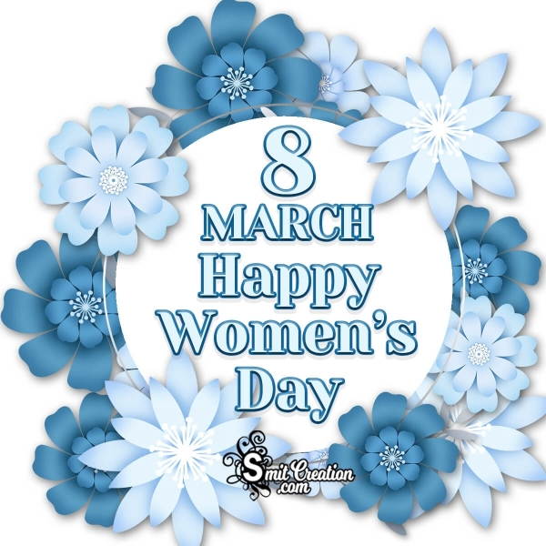 8 March Women's Day Floral Image