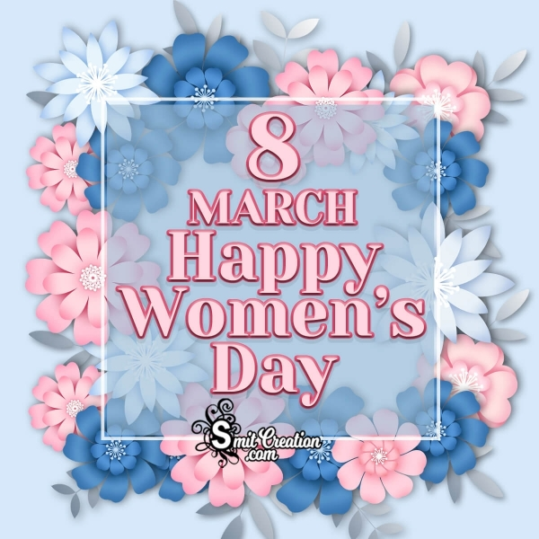 Happy Women's Day Floral Image