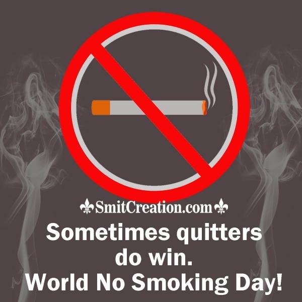 World No Smoking Day Slogan