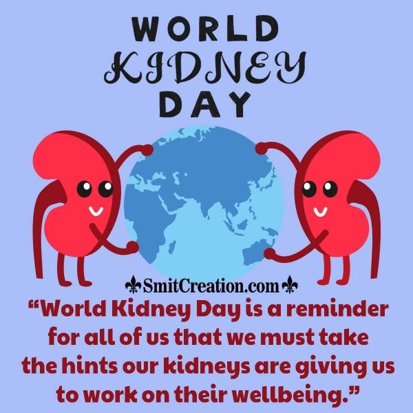World Kidney Day Awareness Quote