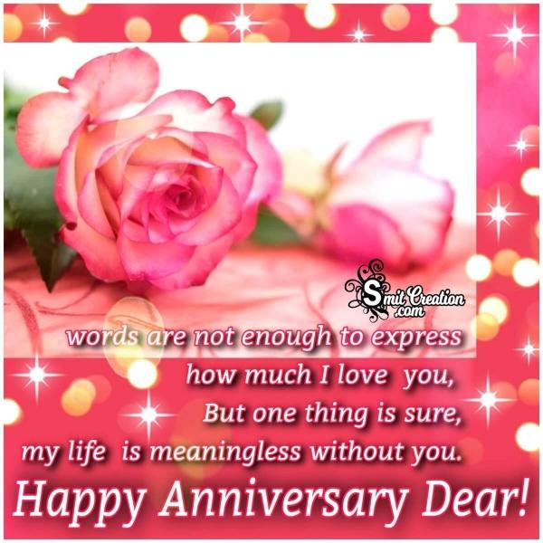 Happy Anniversary Dear Wife