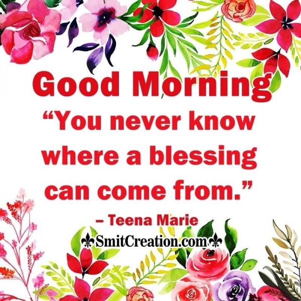 Good Morning Blessing