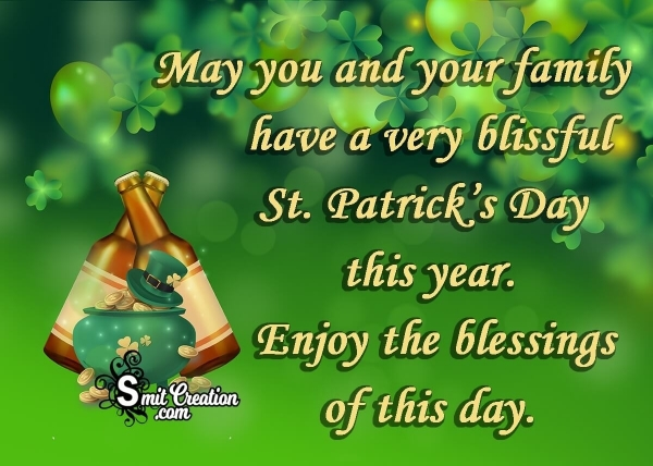 St Patrick's Day Wishes for Friends & Family