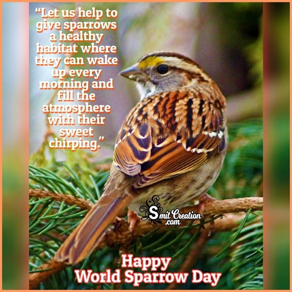 Happy World Sparrow Day Message