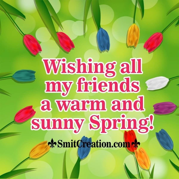 Happy Spring Wishes for Friends