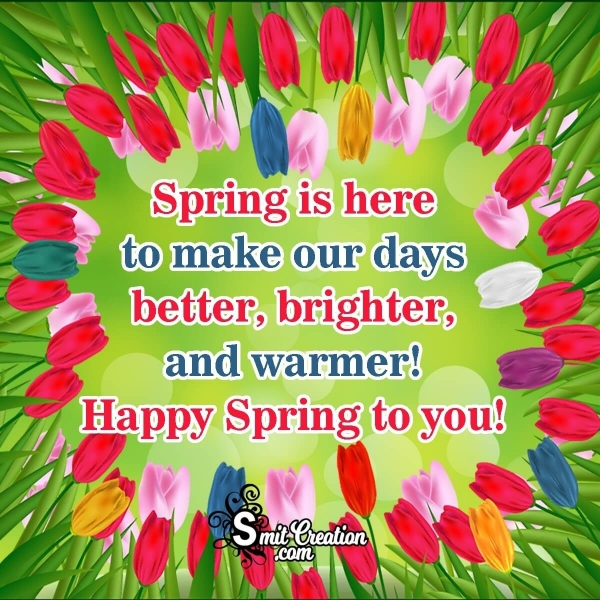 Happy Spring To You!