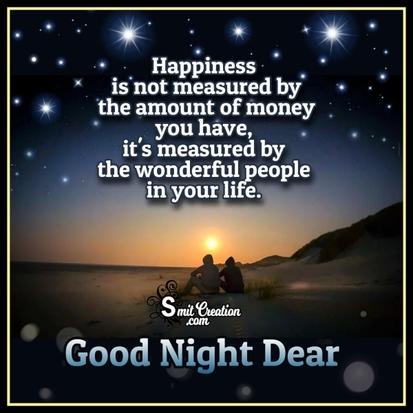 Good Night Happiness Quote