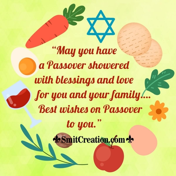 Best wishes on Passover To You