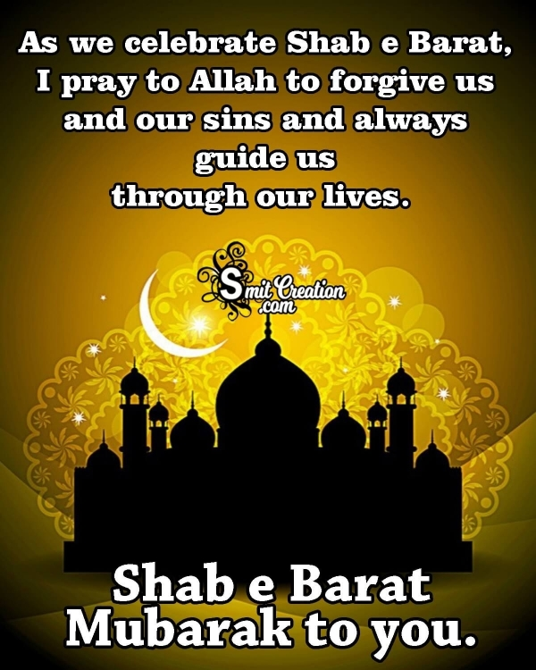 Shab e Barat Mubarak to you