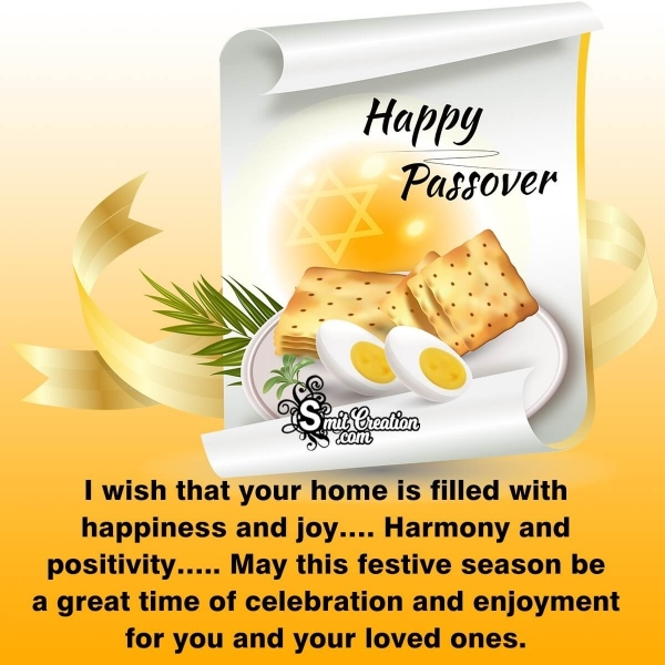 Wishing You A Very Happy Passover!!!
