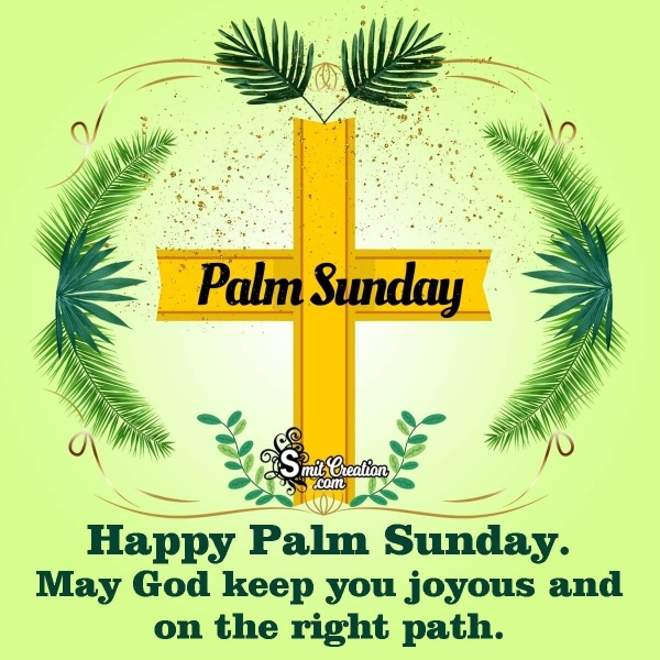 Happy Palm Sunday Message