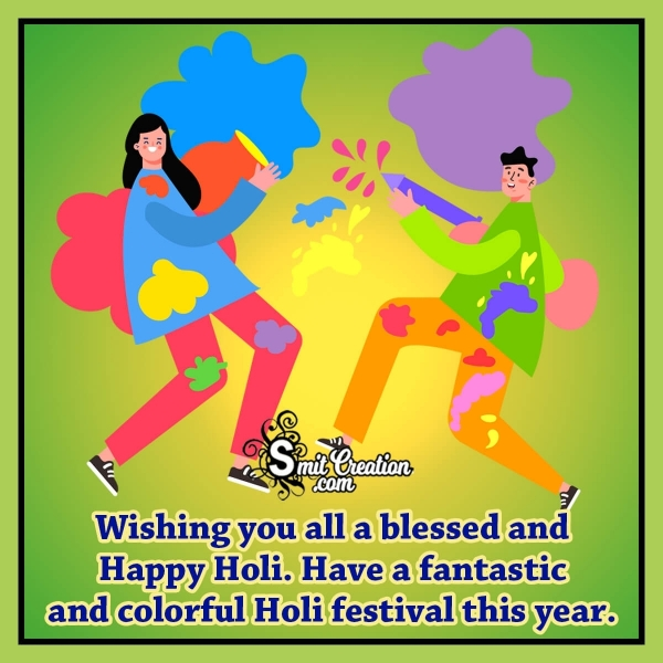 Happy Holi Festival Blessing