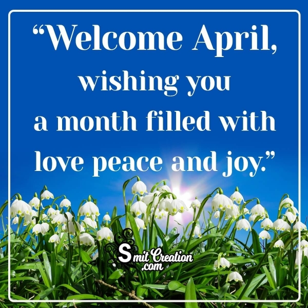 Welcome April Wish Image