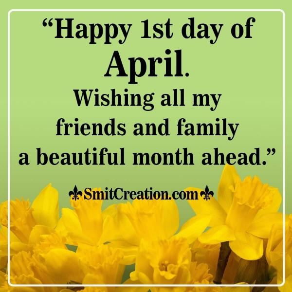Happy 1st Day Of April Wish Image