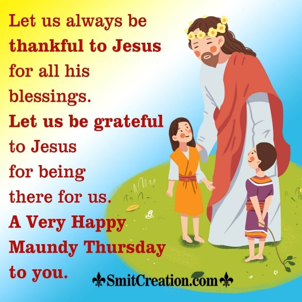 Happy Maundy Thursday Whatsapp Message Image