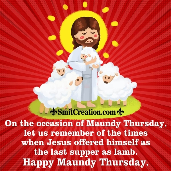 Happy Maundy Thursday Message Image